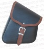 MOTORCYCLE LEATHER BAG SIDE TRIANGLE UNIVERSAL CUSTOM MOTORCYCLE BISACCIA