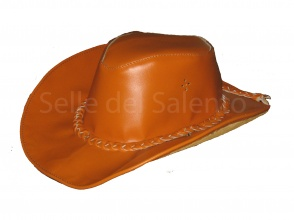 Western Cowboy Hat leather hat cap cowntry chapeau hut skin leather Haut