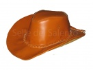 Cappello Western in pelle Cowboy cowntry hat cap chapeau hut skin leather Haut