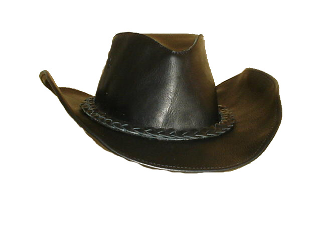 Cappello Western in pelle Nero Cowboy cowntry hat cap chapeau hut skin  leather Haut 934cb9bcb342