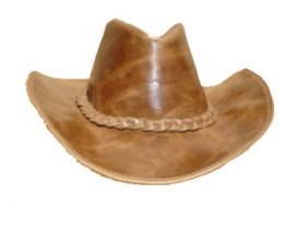Cappello Western in pelle