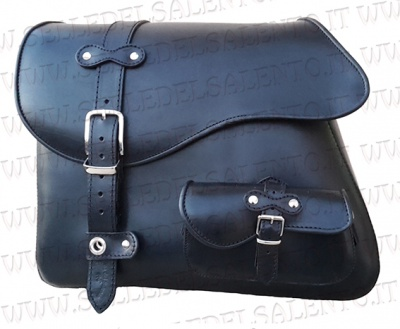 Mono motorcycle bag 33 liter bag leather harley sportster 883 copia