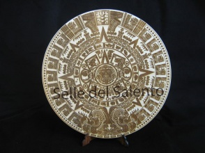 Calendario azteco MAYA in legno incisione laser