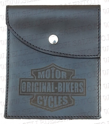 Portadocumenti porta libretto con incisione motorcyles original bikers